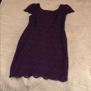 Dresses & Skirts - Purple fitted lace dress, women's size small